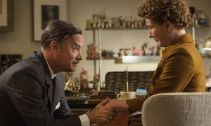 Is Hanks's Disney on his knees POPPINS the question of a creative marriage with Thompson's P.L. Travers?
